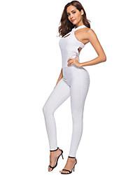 abordables -Danse classique justaucorps / Justaucorps Femme Entraînement / Utilisation Polyester / Élastique Croisé Sans Manches Taille haute Collant / Combinaison