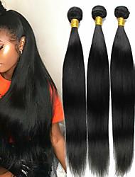 저렴한 -4 묶음 말레시아인 헤어 직진 100 % 레미 헤어 위브 번들 인간의 머리 직조 번들 헤어 한 팩 솔루션 8-28inch 자연 색상 인간의 머리 되죠 실키 패션 두꺼운 인간의 머리카락 확장 여성용