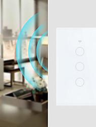 Недорогие -3 банды настенная сенсорная панель интеллектуальный WiFi пульт дистанционного управления