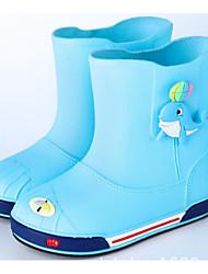 halpa -Poikien / Tyttöjen Kengät PVC Kevät Kumisaappaat Bootsit varten Lapset / Teini-ikäinen Sininen / Pinkki / Vaalean sininen / Säärisaappaat