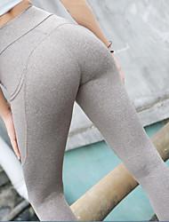 Недорогие -Жен. Штаны для йоги Эластан Нижняя часть Спортивная одежда Влагоотводящие Подтяжка Эластичная