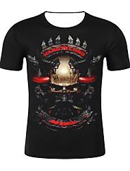 저렴한 -남성용 기하학 / 3D 티셔츠 블랙 XXL