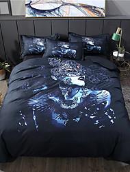 billige -hjem tekstiler 3d sengetøj sæt dynebetræk med pudebetræk 3pcs soveværelse dynebetræk sæt sengetøj kraniet