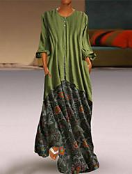 Недорогие -Жен. Классический Оболочка Платье - Геометрический принт Макси