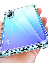 Недорогие -Кейс для Назначение Huawei Huawei P20 / Huawei P20 Pro / Huawei P20 lite Защита от удара / Прозрачный Чехол Однотонный Мягкий ТПУ
