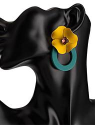 Недорогие -Жен. Серьги-слезки Серьги Цветы корейский Милая Мода Серьги Бижутерия Черный / Серый / Зеленый Назначение Для вечеринок Подарок Повседневные Офис 1 пара