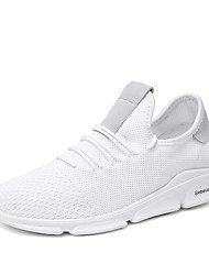 cheap -Men's Light Soles Mesh Summer Sporty / Casual Athletic Shoes Running Shoes / Walking Shoes Breathable White / Black