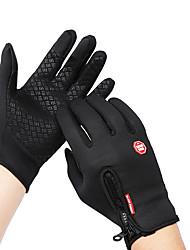 Недорогие -Зима Перчатки для велосипедистов Перчатки для сенсорного экрана Горные велосипеды Шоссейные велосипеды Сенсорный экран Водонепроницаемость С защитой от ветра Сохраняет тепло Спортивные перчатки