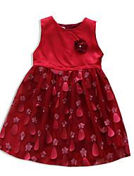 お買い得  -子供 女の子 ソリッド ドレス ピンク