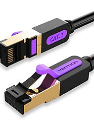 Недорогие -Кабель локальных сетей vention Cat7 RJ45 LAN кабель SSTP Интернет 3 м соединительный кабель для ПК маршрутизатор кабель ноутбука Ethernet
