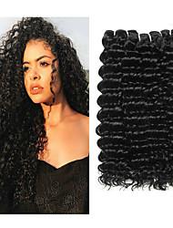 abordables -Lot de 3 Cheveux Brésiliens Ondulation profonde Cheveux Vierges Naturel Tissages de cheveux humains Bundle cheveux One Pack Solution 8-28 inch Couleur naturelle Tissages de cheveux humains Cosplay
