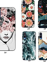 Недорогие -Кейс для Назначение SSamsung Galaxy A6 (2018) / A6+ (2018) / Galaxy A7(2018) С узором Кейс на заднюю панель Соблазнительная девушка / Цветы Мягкий ТПУ