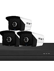 Недорогие -3 миллиона h.265 poe 3 комплекта камер наблюдения бытовая техника poe сеть аудио hd камера ночного видения комплект еды