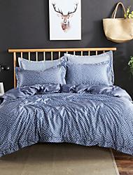 billige -Sengesæt Ensfarvet / Luksus / Moderne Rayon / Polyester Trykt 4 DeleBedding Sets