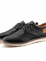 halpa -Miesten Comfort-kengät PU Syystalvi Vapaa-aika Oxford-kengät Non-liukastumisen Color Block Musta / Ruskea / Sininen