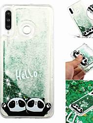 baratos -Capinha Para Samsung Galaxy Galaxy M20(2019) / Galaxy M30(2019) Liquido Flutuante / Transparente / Estampada Capa traseira Panda Macia TPU para Galaxy M10 (2019) / Galaxy M20(2019) / Galaxy M30(2019)