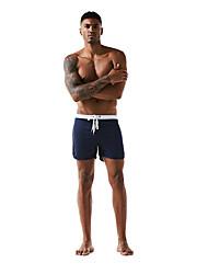 Недорогие -Муж. Спортивные Классический Красный Темно синий Серый Мальчик ноги Трусики, шорты и т.д. Купальники - Однотонный Контрастных цветов L XL XXL Красный
