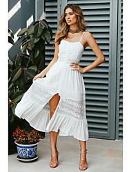 preiswerte -Damen Boho Elegant Swing Kleid - Spitze Gespleisst, Solide Midi