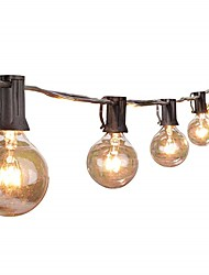 billige -7.62M Lysslynger 25 lysdioder Varm hvid Fest / Dekorativ / Koblingsbar 220-240 V 1set