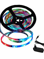 abordables -5m Bandes Lumineuses LED Flexibles 150 LED SMD5050 Adaptateur d'alimentation 1 x 2A Décorative / Auto-Adhésives / Dégradé de Couleur 12 V / 110-240 V 1 set