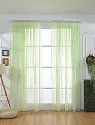 Недорогие -Современный 2 шторы Прозрачный Спальня   Curtains