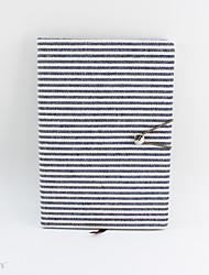 Χαμηλού Κόστους -νεωτεριστικό χαρτί βαμβακερό ύφασμα γκρι / λευκά σημειωματάρια λωρίδας / σημειωματικό βιβλίο για σχολικό γραφείο χαρτικά α5