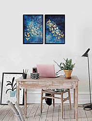 Недорогие -Набор в раме - Натюрморт Алюминиевый сплав Масляные картины Предметы искусства