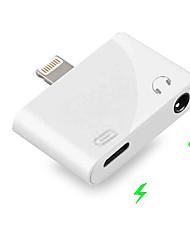 Недорогие -Разъем 2 в 1 с разъемом 3,5 мм для наушников aux ios 9/10/11/12 для iphone xs max x 8 7 плюс адаптер для зарядки аудио с двумя наушниками