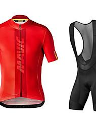 Недорогие -Mavic Велоспорт одежда с коротким рукавом костюм команды версии новый велосипедный костюм велосипед шорты с коротким рукавом дышащая быстросохнущая велосипедная рубашка