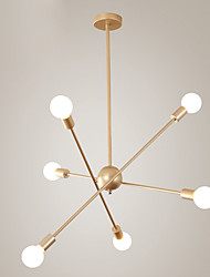 Недорогие -JSGYlights 6-Light Линейные Люстры и лампы Рассеянное освещение Окрашенные отделки Металл Регулируется, Новый дизайн 110-120Вольт / 220-240Вольт