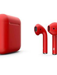Недорогие -litbest new i12 blackpods redpods tws правда беспроводные наушники с матовой кожей bluetooth 5.0 наушники всплывающие для ios с микрофоном hands free наушники с сенсорным управлением