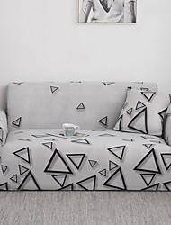 Недорогие -чехлы на диван чехлы из хлопчатобумажной смеси / полиэстер / окрашенная пряжа / треугольный / с геометрическим рисунком / серый цвет