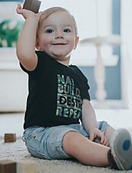 levne -Dítě Chlapecké Aktivní / Základní Tisk Tisk Krátký rukáv Standardní Standardní Bavlna Sady oblečení Duhová