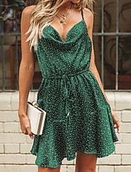 preiswerte -Damen Grundlegend Hülle Kleid Punkt Asymmetrisch