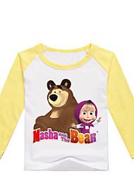 levne -Děti / Toddler Dívčí Základní Tisk Tisk Dlouhý rukáv Bavlna / Spandex Košilky Černá