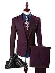 halpa -Tuxedos Normaali istuvuus Lovikäänne Yksirivinen yksi nappi Polyesteri Kukka