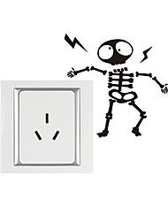 Недорогие -стикер череп череп выключатель света съемный стикер стены пвх