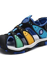 halpa -Poikien Kengät Tekonahka Kesä Comfort Sandaalit Kävely varten Lapset / Taapero Armeijan vihreä / Sininen / Laivastosininen
