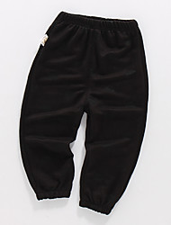 abordables -Enfants Garçon Basique / Chic de Rue Couleur Pleine Coton Pantalons Noir