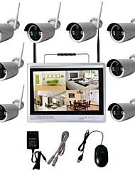 cheap -8CH 720P CCTV Hot Products 8CH 720P Network Video Recorder WIFI Wireless NVR Wireless IP Camera NVR kit