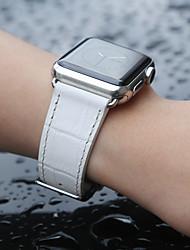 Недорогие -ремешок из крокодиловой кожи для часов Apple серии Smart Watch 4/3/2/1 белого цвета