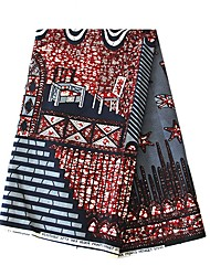 billige -Bomull Geometrisk Mønster 112 cm bredde stoff til قميص selges ved 6Yard