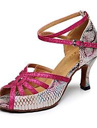 billige -Dame Sko til latindans Syntetisk læder Hæle Cubanske hæle Kan tilpasses Dansesko Rosa