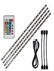 Недорогие -0.5м Гибкие светодиодные ленты / RGB ленты 15 светодиоды SMD5050 1 пульт дистанционного управления 24Keys RGB ТВ-фон Работает от USB 1 комплект