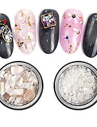 billige -1 pcs Bedste kvalitet Muslingeskal Pailletter Til Fingernegl Mode Kreativ Negle kunst Manicure Pedicure Daglig Stilfuld / Kunstnerisk