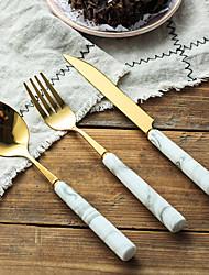 Недорогие -посуда 3шт Экологичные Heatproof Новый дизайн Нержавеющая сталь Столовая вилка Столовый нож Дессертная ложка