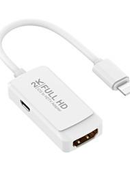Недорогие -8-контактный для молнии в HDMI мужчина к женщине цифровой адаптер конвертер 2k HD 1080 P HDMI-кабель для iphone6 х XR XS Ipad