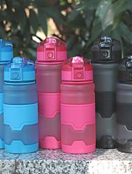 Недорогие -Бутылка для воды 500 ml PP Портативные для Походы / туризм / спелеология Путешествия Зеленый Серый Оранжевый Синий Розовый