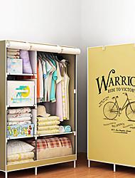 billige -nye mode moderne garderobe non-woven stof ramme armering diy samling opbevaring organizer aftageligt tøj møbler