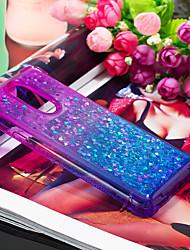 Недорогие -Кейс для Назначение LG LG Q Stylus / LG Stylo 4 Защита от удара / Движущаяся жидкость Кейс на заднюю панель Градиент цвета Мягкий ТПУ